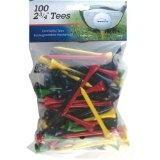 Intech 100 pack 2 3/4 Inch Tees (Multi Colors) (Sports)By King Par