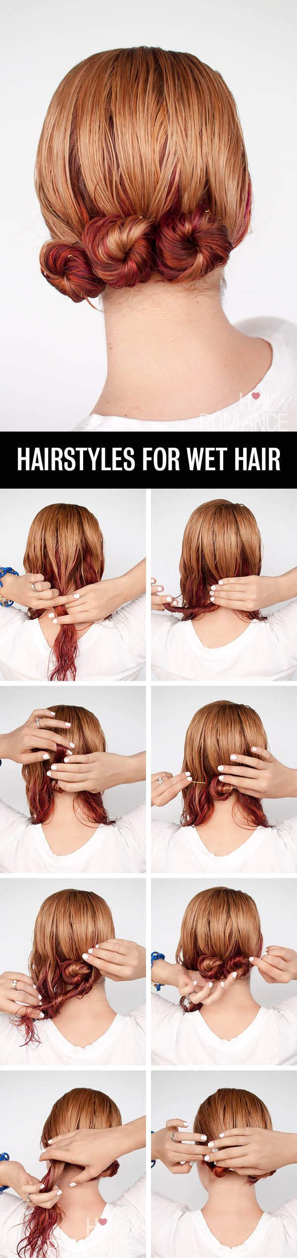 Easy hairstyles for wet hair