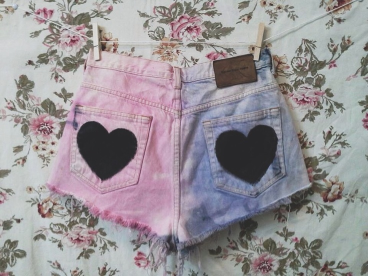 I like the hearts on the pockets but not the dip dye