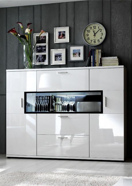 Sideboard weiß hochglanz billig  Best 25+ Highboard weiß hochglanz ideas on Pinterest | Vitrine ...