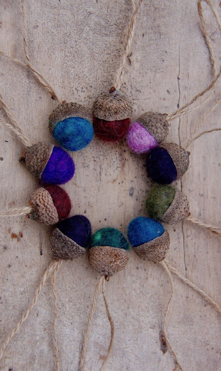 How to Make Felted Acorn Christmas Ornaments Natural christmas