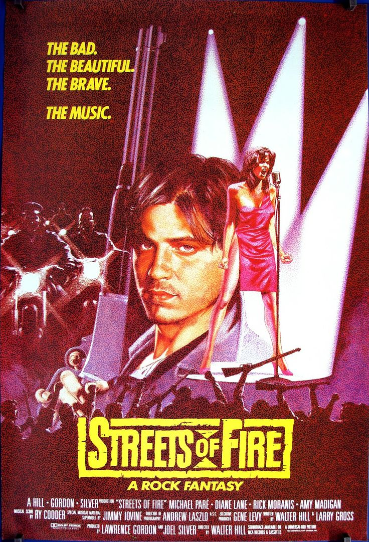 Streets of Fire (1984) great soundtrack, great looking actors, comic book style and a film Bill Paxton DOESN'T die in