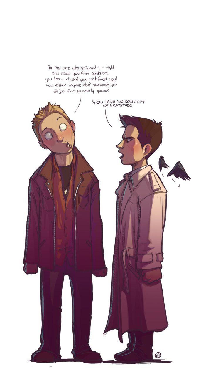 Dean teasing Cas. Adorable.