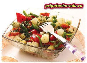 Салат из спаржи и сладкого перца