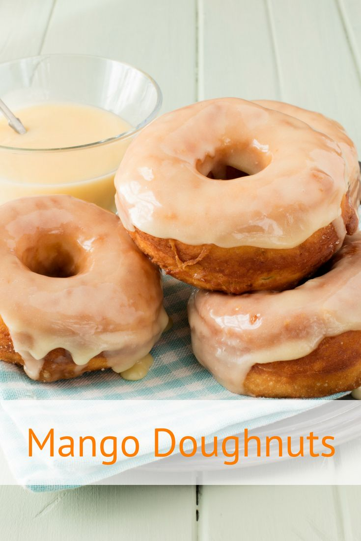 Homemade doughnut recipe with a sweet mango glaze. Making glazed doughnuts is easier than you think. We've given this recipe a tropical sweet mango spin.