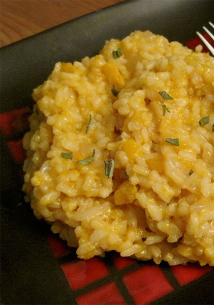 Try this simple butternut squash risotto today!