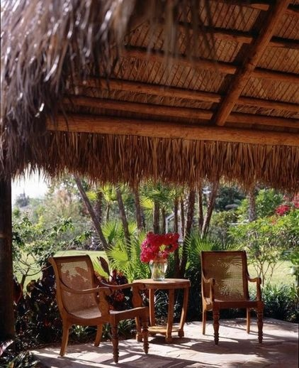 traditional patio by orlando comas, landscape architect.: Backyard Ideas, Landscape Architects, Covers Patio, Tiki Style, Tropical Style, Beautiful Backyard, Tropical Gardens, Huts Ideas, Orlando Coma