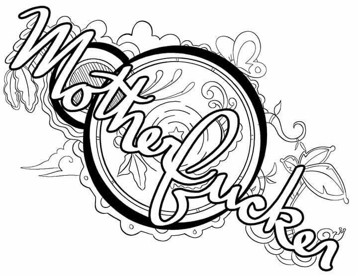 motherfucker coloring page by colorful language posted with