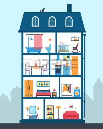 Billedresultat for hus illustrationer