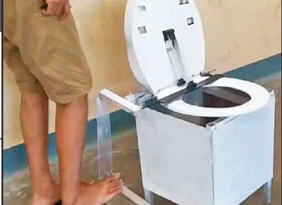 A team of five IIT-Madras students has developed a mechanical device that can lead to safer use of public toilets. The device lifts, sanitises and wipes a toilet seat, and is hands-free.  Currently, the public toilet experience in India can be summed up, by and large, as horrible.   #clean toilets #gandhian young technological awards #IIT delhi #IIT madras #times of india