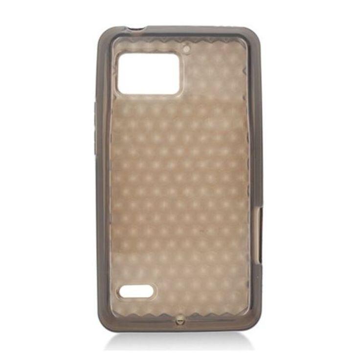Insten Clear TPU Rubber Candy Skin Case Cover For Motorola Droid Bionic XT875 Targa #2348296