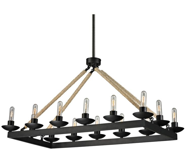ELK 15904 14 Pearce Large 1 Tier Chandelier Lighting Light Matte Black