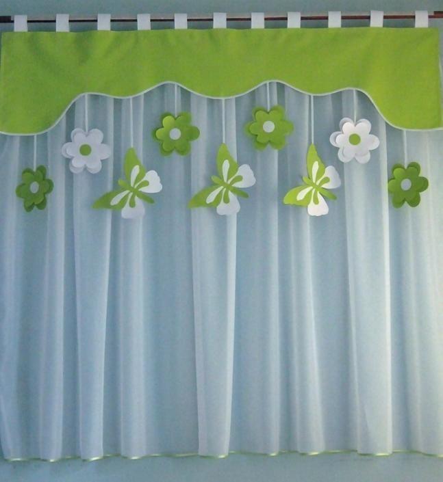 Simple Details zu Vorhang Set Fensterdeko Kinderzimmer Motiv gr n cm Handarbeit Kinder