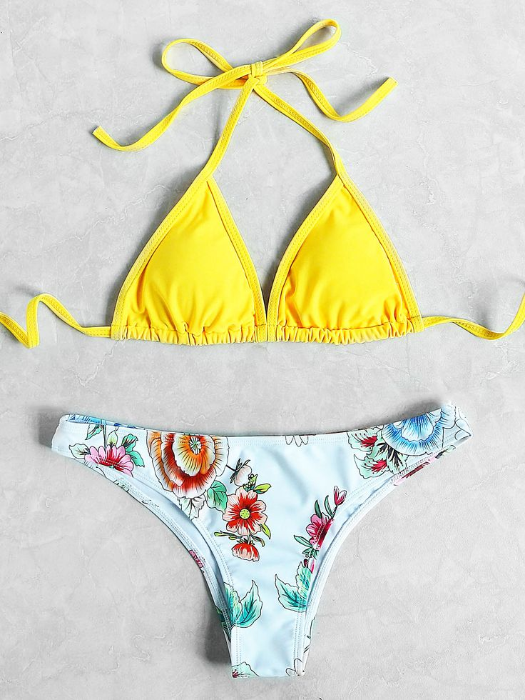 Shop Flower Print Halter Neck Triangle Mix And Match Bikini Set online. SheIn offers Flower Print Halter Neck Triangle Mix And Match Bikini Set & more to fit your fashionable needs.