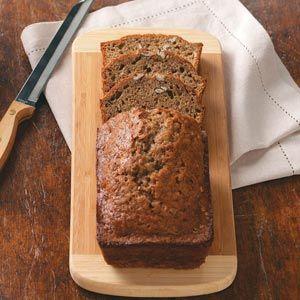Zucchini Bread - orange juice - canola oil - unsweetened applesauce - 3 eggs - flour - sugar - zucchini - pecans
