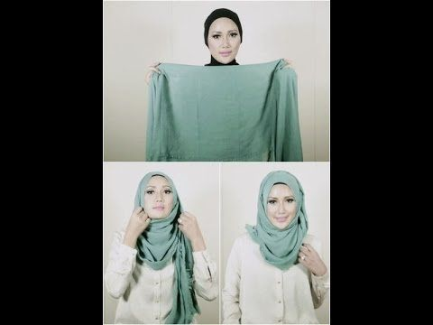 Hijab Tutorial - Plain Headscarf without Pin  http://hijabchicblog.wordpress.com/2014/03/25/shown-simple-with-plain-headscarf-without-pin/