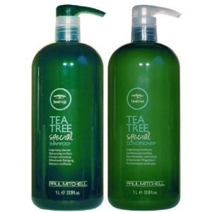 """Paul Mitchel Tea Tree Special Shampoo, Conditioner.     Mom - the emphasis is on """"Special"""". The regular lavender mint tea tree doesn't tingle."""