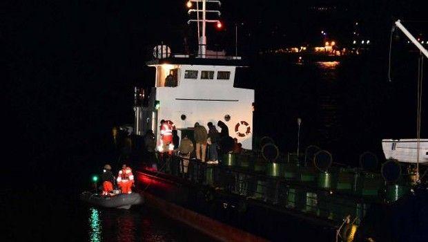 Çanakkale Boğazı'ndan geçmekte olan kuru yük gemisine operasyon...