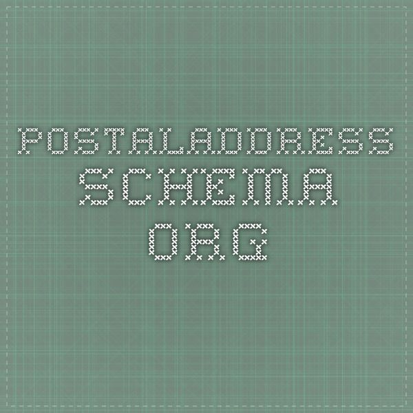 PostalAddress - schema.org