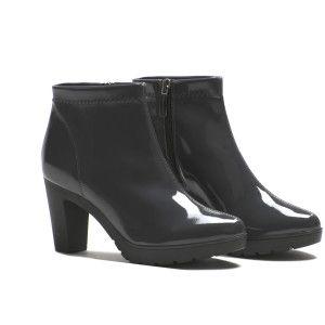 A020 stivaletti in vernice grigia con platform #ankle #boots #asphalt #patent http://shop.nrrapisardi.it/shop/a020-stivaletto-vernice/