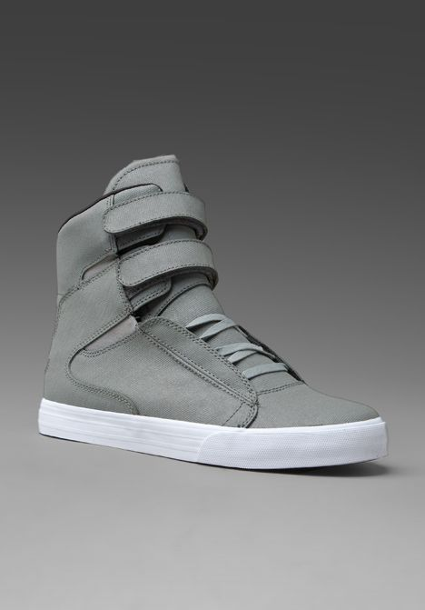 Supra Society Grey Canvas Sneakers, $144