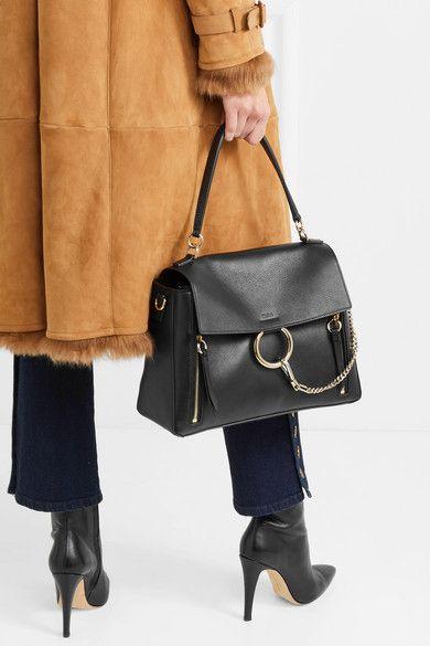 7f0c30c3e Chloé | Faye Day large textured-leather shoulder bag | NET-A-PORTER.COM