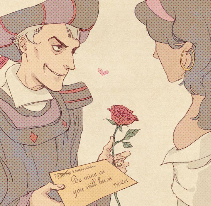 """Matteo-Claude Frollo- J'ai choisi cette photo parce que dans le livre frollo a un indésirable l'armour pour elle. Frollo-"""" tu a deux option pour aime moi ou se pendre."""