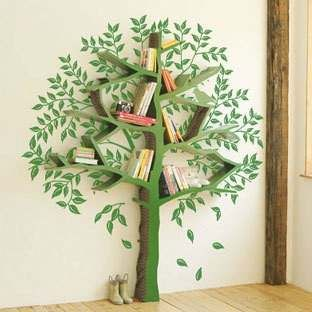 Designers fiberglass shelf IKEA Children's books minimalist style floor decorated tree bookshelf