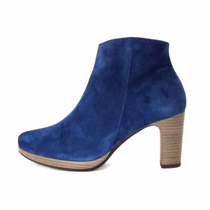 Gabor Boots | Connecticut Ankle Boots in Indigo Blue | Mozimo Blue suede boots