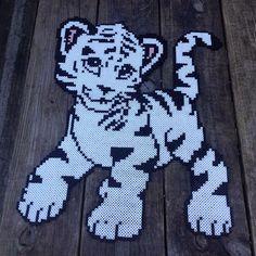 White tiger hama beads by maries_perlerart