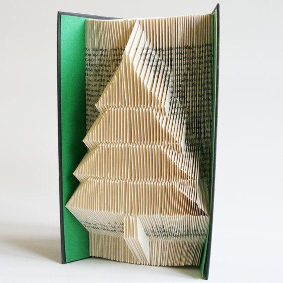 Christmas Tree Book Folding Pattern 2 looks: by LoveBookFolding