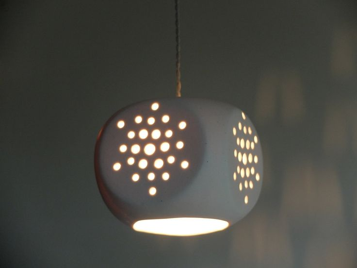 Ceramic hanging light, square shape, Light pendant, white color, modern pendants, hanging light fixtures, lighting by Gallight on Etsy