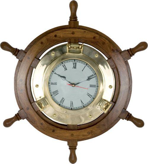 Best 25 nautical clocks ideas on pinterest beach style for Seashell wall clock