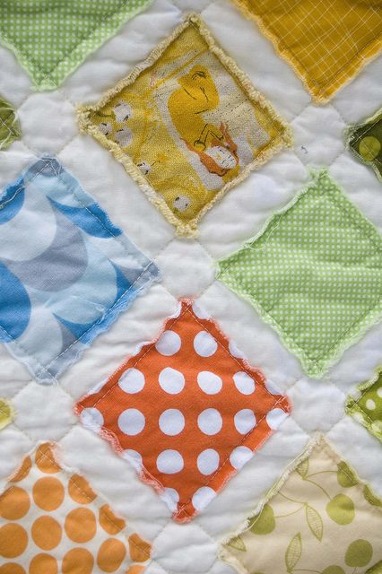 raw edges--super fast and easy baby quilt