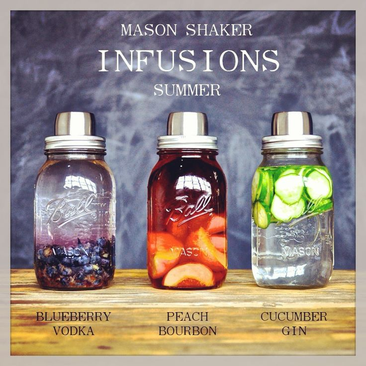 Shakes up some fresh summer flavors with the Mason Shaker spirit infusion recipes.  #‎masonshaker‬  via www.masonshaker.com