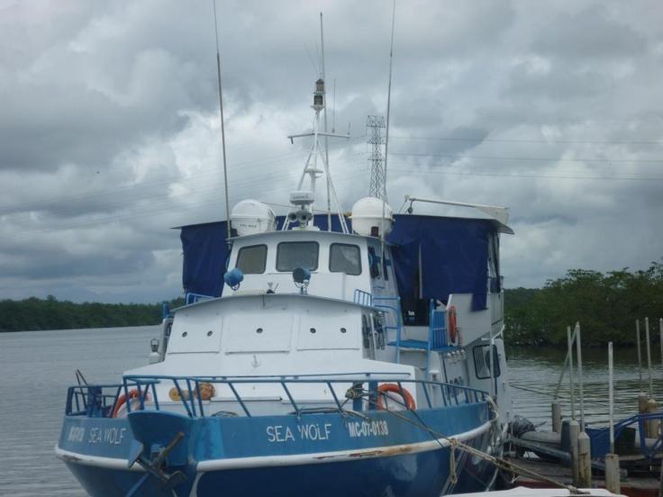 Costa Pacifica  A boat in Tumaco - Colombia