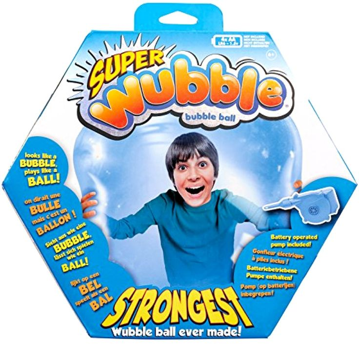 Wubble Super Wubble Game with Pump Blue Inflatable Bubble Ball NEW Free Shipping