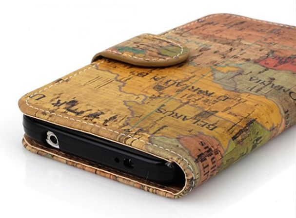 Geography Vintage Premium Diary Case for LG Optimus G Pro