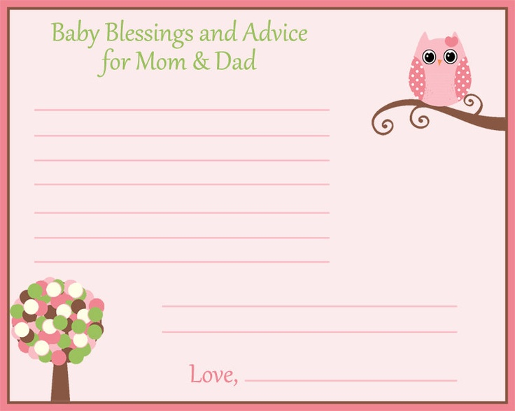 ... Baby Shower Advice Cards. Updated: ...