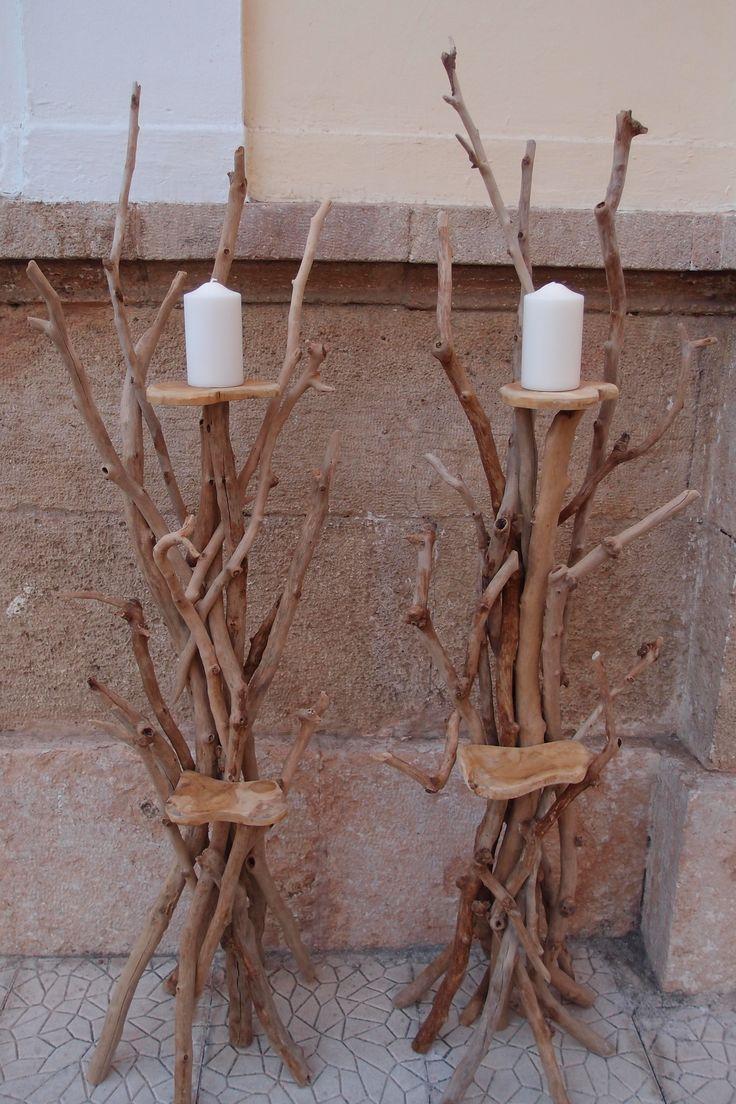 τηλ 6976773699..Νέο σχέδιο λαμπάδας γάμου από θαλασσοξυλα ... (λαμπάδα-καλόγερος) με 2 βάσεις μια για κερί και δεύτερη για σύνθεση με φρέσκα άνθη μετά τον γάμο αξιοποιείτε σαν κεροστάτης, ανθοστήλη η καλόγερος για ελαφριά αντικείμενα ..ύψος 150 cm είναι εφικτό να φτιαχτεί μικρότερη η μεγαλύτερη