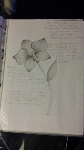 A flower With a poem ♡