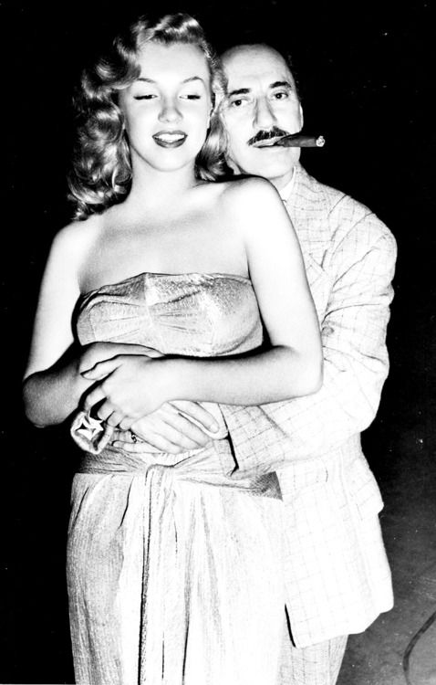 Marilyn Monroe and Groucho Marx, 1940s.