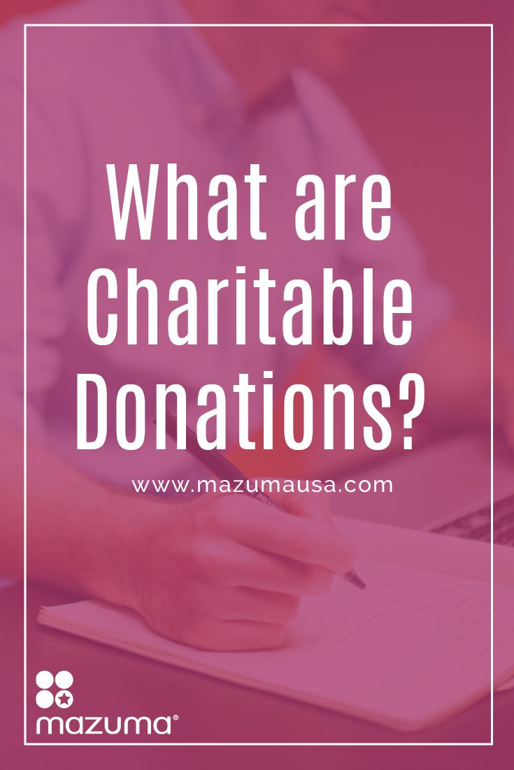 What are charitable donations? Charitable donations are gifts given to nonprofit organizations. They are usually tax deductible.