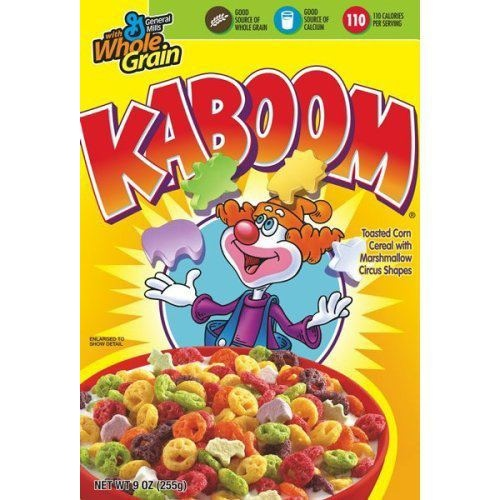 Kaboom cereal...THE BOMB!!