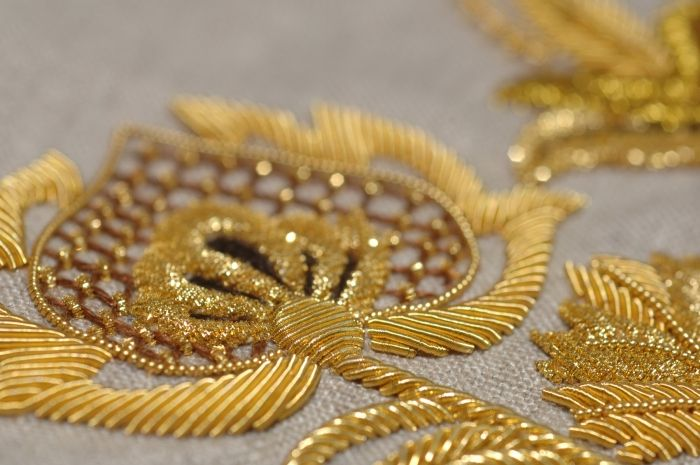 Beautiful goldwork embroidery!