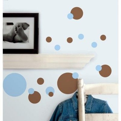 Just Dots Blue & Brown Wall Stickers