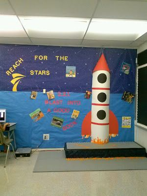 25 best ideas about space theme classroom on pinterest for Space themed book corner