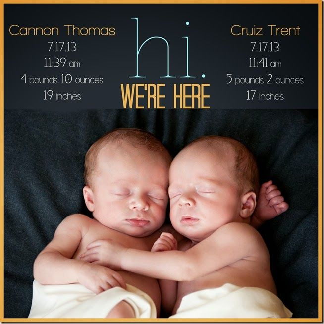 My mom says she is bestowing twins on me....ha! But c'mon....double the cuteness right!?