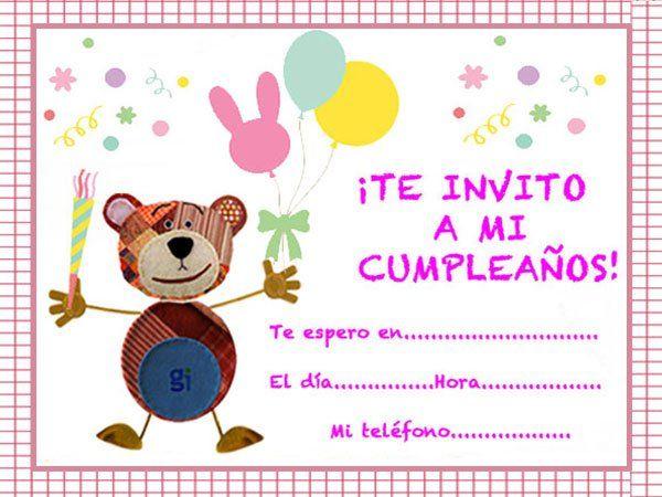 Propuestas De Invitaciones De Cumpleaños Para Niños Con El