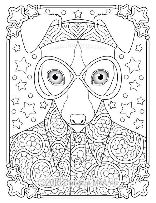 459 Best Cats Dogs Coloring Pages For Adults Images On Pinterest - pointer animal coloring pages